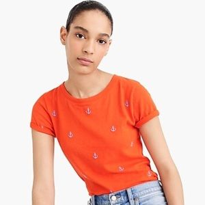 NWT ~ JCREW Embroidered Anchor Tee - Small